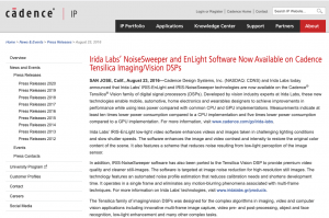 Cadence Irida Labs' NoiseSweeper and EnLight Software