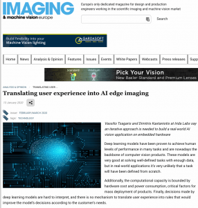 Translating user experience into AI edge imaging